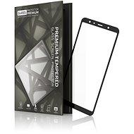 Tempered Glass Protector Rámčekové na Samsung Galaxy A7, Čierne - Ochranné sklo