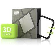 Tempered Glass Protector pre Apple Watch 4/5/6/SE 44 mm; 3D Glass Čierne - Ochranné sklo