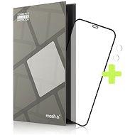 Tempered Glass Protector Rámčekové pre iPhone 12 Mini, Čierne + sklo na kameru - Ochranné sklo