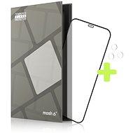 Tempered Glass Protector Rámčekové pre iPhone 12/12 Pro, Čierne + sklo na kameru - Ochranné sklo