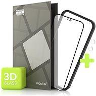 Tempered Glass Protector pre iPhone 12 Mini, 3D Case Friendly, Čierne + sklo na kameru - Ochranné sklo