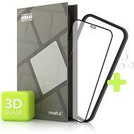Tempered Glass Protector pre iPhone 12/12 Pro, 3D Case Friendly, Čierne + sklo na kameru