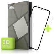 Tempered Glass Protector pre iPhone 11 – 3D Case Friendly, Čierne + sklo na kameru - Ochranné sklo