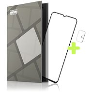 Tempered Glass Protector Rámčekové pre Motorola Moto G10/G30, čierne + sklo na kameru - Ochranné sklo
