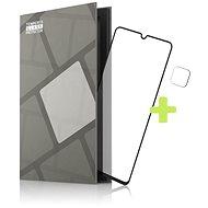 Tempered Glass Protector rámčekové pre Samsung Galaxy M22, čierne + sklo na kameru - Ochranné sklo