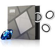 Tempered Glass Protector zafírové pre kameru iPhone 13 Pro/13 Pro Max, 0,3-karátové, strieborné