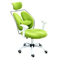 TEMPO KONDELA Benno UT-C568X zeleno/biele - Kancelárske kreslo
