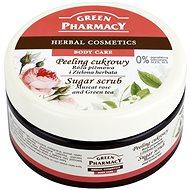 GREEN PHARMACY Cukrový peeling Muškátová ruže a Zelený čaj 300 ml - Peeling