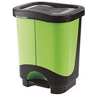 Tontarelli Idea waste bin 10L+10L, black/green