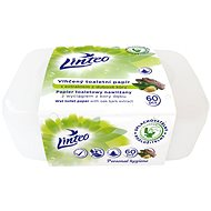 LINTEO  Vlhčený toaletný papier s dubovou kôrou v boxu  (60 ks) - Toaletný papier