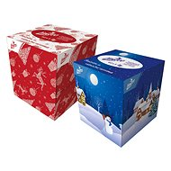 LINTEO Box vianočný, 3-vrstvové (60 ks) - Papierové vreckovky
