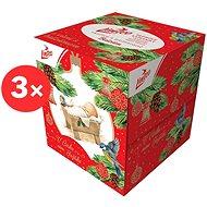 LINTEO Box vianočný, 3-vrstvové (3× 60 ks) - Papierové vreckovky