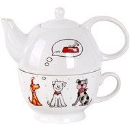 Toro Kanvička na čaj 470 ml so šálkou, motív pes
