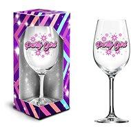 POHÁR NA VÍNO XXL – PARTY GIRL, 600 ml - Poháre na víno