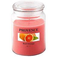 Toro Sviečka v skle s viečkom 510 g, Červený pomaranč - Sviečka