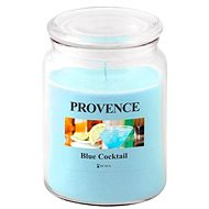 Toro Sviečka v skle s viečkom 510 g, Blue Cocktail - Sviečka