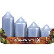 Stupně 4ks prům.50 mm Metal sv. modré svíčky - Vianočná sviečka