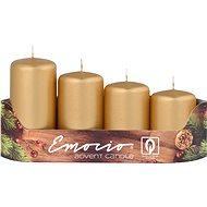 Stupně 4ks prům.40mm Metal Mat zlaté svíčky - Vianočná sviečka