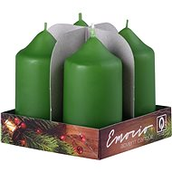 Válec 4ks 40x75 tm. olivová svíčky - Vianočná sviečka