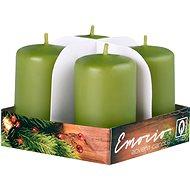 Válec 4ks 38x60 tm. olivové svíčky - Vianočná sviečka