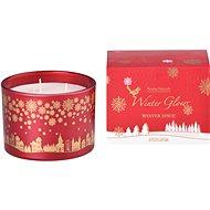 Svíčka ve skle 110x80 mm 3 knoty vonná, v dárkové krabičce Winter Spice - Vianočná sviečka