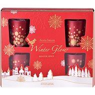 Svíčka ve skle 50x62 mm 6 ks vonná, v dárkové krabičce Winter Spice - Vianočná sviečka