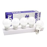 TESLA LED BULB E27, 9W, 4000K, Daylight White, 5-Pack