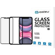 Odzu Glass Screen Protector E2E Kit iPhone 11/XR s inštalačným rámčekom - Ochranné sklo