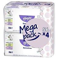 BELLA Happy Baby Sensitive (4x56 ks) - Detské vlhčené obrúsky