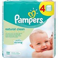 PAMPERS Natural Clean (4x 64 ks) - Detské vlhčené obrúsky