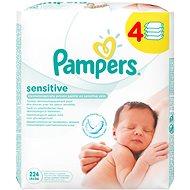 PAMPERS Sensitive (4 x 56 ks) - Detské vlhčené obrúsky