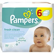 PAMPERS Fresh Clean (6 x 64 ks) - Detské vlhčené obrúsky