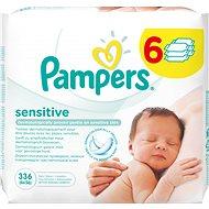 PAMPERS Wipes Sensitive (6 x 56 ks) - Detské vlhčené obrúsky