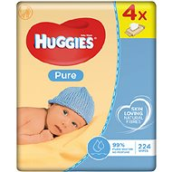 HUGGIES Pure Quatro Pack (4x 56 ks) - Detské vlhčené obrúsky