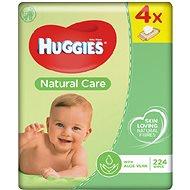 HUGGIES Natural Care Quatro Pack (4x56 ks) - Detské vlhčené obrúsky