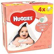HUGGIES Soft Skin Quatro Pack (4× 56 ks) - Detské vlhčené obrúsky