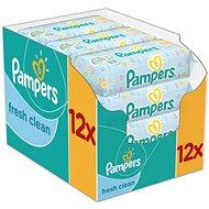 PAMPERS Fresh Clean (12 x 64 ks) - Detské vlhčené obrúsky