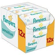 PAMPERS Sensitive (12 x 56 ks) - Detské vlhčené obrúsky