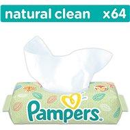 PAMPERS Natural Clean (64 ks) - Detské vlhčené obrúsky