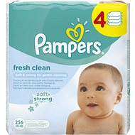 PAMPERS Fresh Clean (4× 64 ks) - Detské vlhčené obrúsky