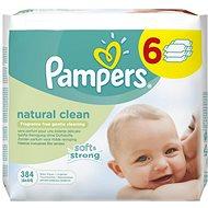 PAMPERS Natural Clean (6× 64 ks) - Detské vlhčené obrúsky