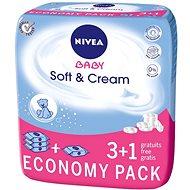 NIVEA BABY Soft & Cream 4 × 63 ks - Detské vlhčené obrúsky