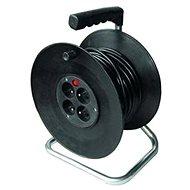 Solight Predlžovací prívod na bubne, 4 zásuvky, čierny, 50 m - Predlžovacie prívody