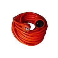 Solight Predlžovací kábel, 1 zásuvka, oranžová, 20 m - Prodlužovací kabel