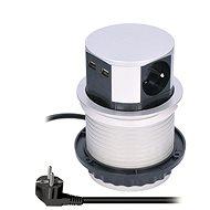 Predlžovací kábel Solight PP100USB - Prodlužovací kabel