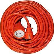 PremiumCord predlžovací 30m 230V, oranžový