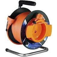 PremiumCord predlžovací kábel 230V 50 m bubon, oranžový - Napájací kábel