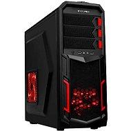 EVOLVEO K2 čierna/červená - Počítačová skriňa