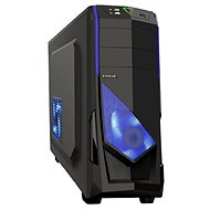 EVOLVEO R04 čierna/modrá - Počítačová skriňa