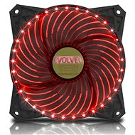 EVOLVEO 12L2RD LED 120 mm červený - Ventilátor do PC